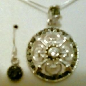 Marcasite and sterling silver set
